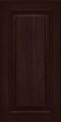 Square Raised Panel - Solid (AA0C) Cherry in Peppercorn - Wall