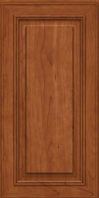 Square Raised Panel - Solid (AA0C) Cherry in Sunset - Wall