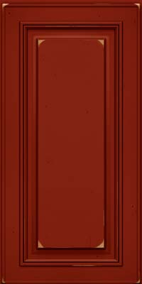 Square Raised Panel - Solid (AA0C) Cherry in Vintage Cardinal - Wall