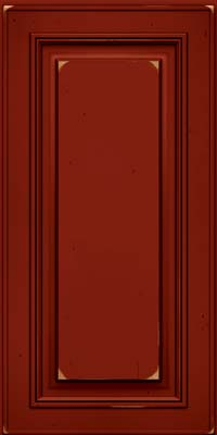 Square Raised Panel - Solid (AA0C) Cherry in Vintage Cardinal w/Onyx Patina - Wall