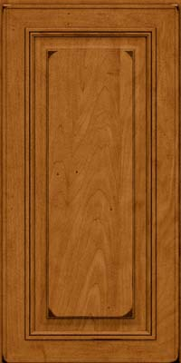Square Raised Panel - Solid (AA0M) Maple in Burnished Golden Lager - Wall
