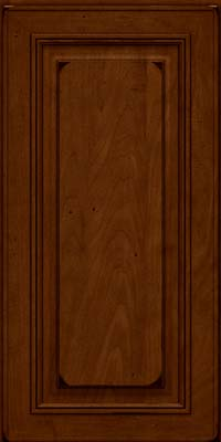 Square Raised Panel - Solid (AA0M) Maple in Burnished Chestnut - Wall