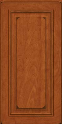 Square Raised Panel - Solid (AA0M) Maple in Burnished Cinnamon - Wall