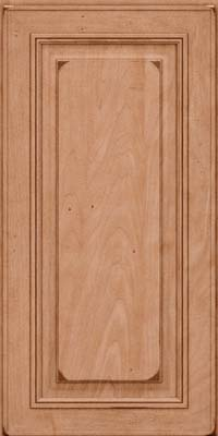 Square Raised Panel - Solid (AA0M) Maple in Burnished Ginger - Wall