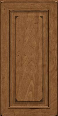 Square Raised Panel - Solid (AA0M) Maple in Burnished Rye - Wall