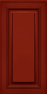 Square Raised Panel - Solid (AA0M) Maple in Cardinal w/Onyx Glaze - Wall