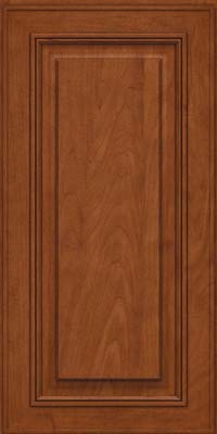 Square Raised Panel - Solid (AA0M) Maple in Chestnut - Wall