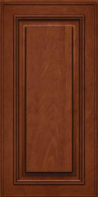 Square Raised Panel - Solid (AA0M) Maple in Chestnut w/Onyx Glaze - Wall