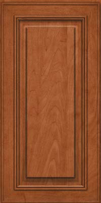 Square Raised Panel - Solid (AA0M) Maple in Cinnamon - Wall