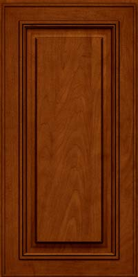 Square Raised Panel - Solid (AA0M) Maple in Cinnamon w/Onyx Glaze - Wall