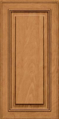 Square Raised Panel - Solid (AA0M) Maple in Ginger w/Sable Glaze - Wall