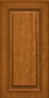 Square Raised Panel - Solid (AA0M) Maple in Golden Lager - Wall