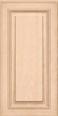 Square Raised Panel - Solid (AA0M) Maple in Parchment - Wall
