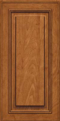 Square Raised Panel - Solid (AA0M) Maple in Praline w/Onyx Glaze - Wall