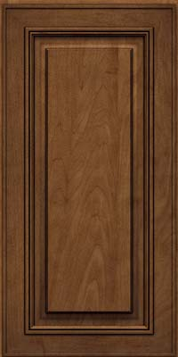 Square Raised Panel - Solid (AA0M) Maple in Rye w/Onyx Glaze - Wall