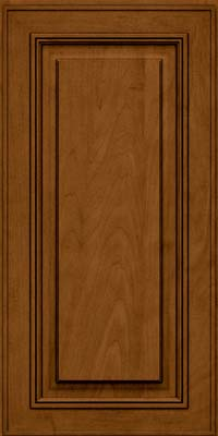 Square Raised Panel - Solid (AA0M) Maple in Rye w/Sable Glaze - Wall