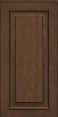 Square Raised Panel - Solid (AA0M) Maple in Saddle Suede - Wall