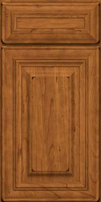 Square Raised Panel - Solid (AA1C) Cherry in Burnished Golden Lager - Base
