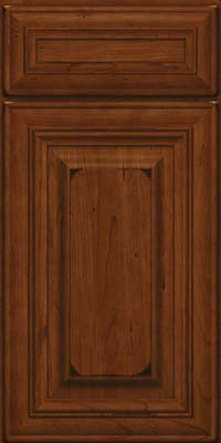 Square Raised Panel - Solid (AA1C) Cherry in Burnished Autumn Blush - Base