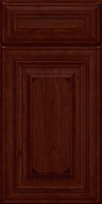 Square Raised Panel - Solid (AA1C) Cherry in Burnished Cabernet - Base