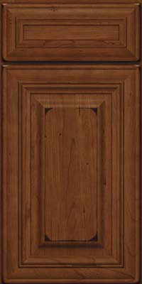 Square Raised Panel - Solid (AA1C) Cherry in Burnished Chocolate - Base