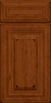 Square Raised Panel - Solid (AA1C) Cherry in Burnished Cinnamon - Base
