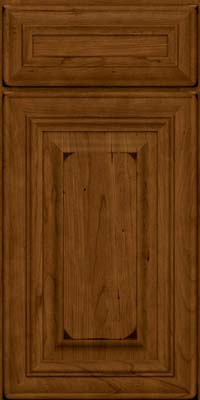 Square Raised Panel - Solid (AA1C) Cherry in Burnished Ginger - Base