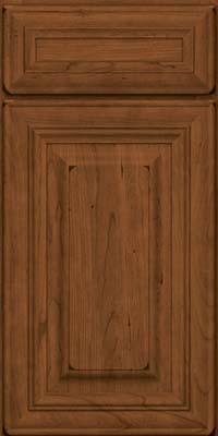 Square Raised Panel - Solid (AA1C) Cherry in Burnished Rye - Base