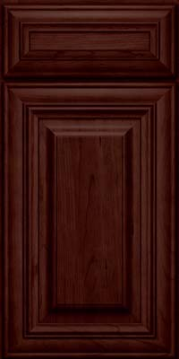Square Raised Panel - Solid (AA1C) Cherry in Cabernet - Base