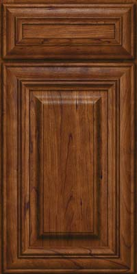 Square Raised Panel - Solid (AA1C) Cherry in Cognac - Base
