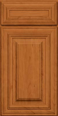 Square Raised Panel - Solid (AA1C) Cherry in Honey Spice - Base