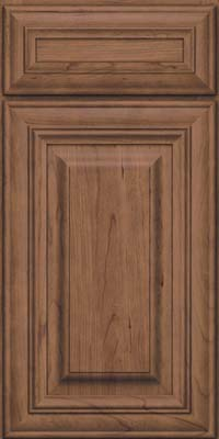 Square Raised Panel - Solid (AA1C) Cherry in Husk Suede - Base