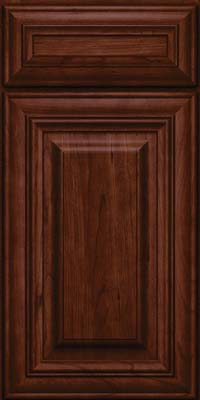 Square Raised Panel - Solid (AA1C) Cherry in Kaffe - Base