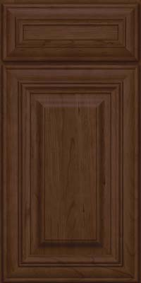 Square Raised Panel - Solid (AA1C) Cherry in Saddle Suede - Base