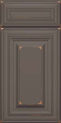 Square Raised Panel - Solid (AA1C) Cherry in Vintage Greyloft - Base