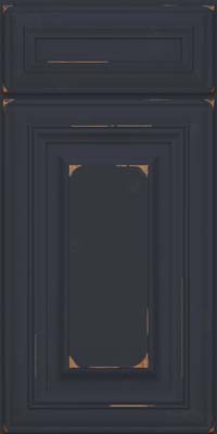Square Raised Panel - Solid (AA1C) Cherry in Vintage Midnight - Base
