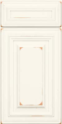 Vanderbilt Square (AA1C1) Cherry in Vintage Dove White - Base