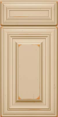 Square Raised Panel - Solid (AA1C) Cherry in Vintage Mushroom - Base