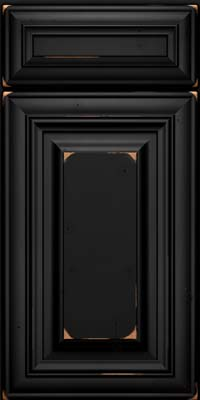 Square Raised Panel - Solid (AA1C) Cherry in Vintage Onyx - Base
