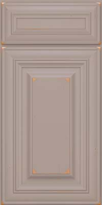 Square Raised Panel - Solid (AA1C) Cherry in Vintage Pebble Grey - Base