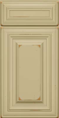 Square Raised Panel - Solid (AA1C) Cherry in Vintage Willow - Base