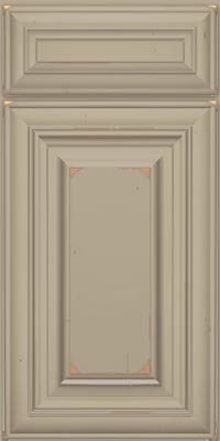 Square Raised Panel - Solid (AA1C1) Cherry in Vintage Willow w/Coconut Patina - Base