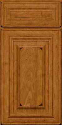 Square Raised Panel - Solid (AA1M) Maple in Burnished Golden Lager - Base