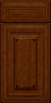 Square Raised Panel - Solid (AA1M) Maple in Burnished Chestnut - Base