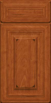 Square Raised Panel - Solid (AA1M) Maple in Burnished Cinnamon - Base