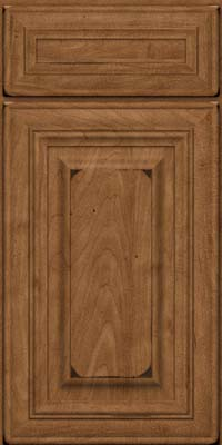 Square Raised Panel - Solid (AA1M) Maple in Burnished Rye - Base