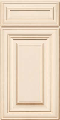 Square Raised Panel - Solid (AA1M) Maple in Canvas w/Cocoa Glaze - Base