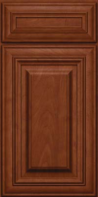 Square Raised Panel - Solid (AA1M) Maple in Chestnut w/Onyx Glaze - Base