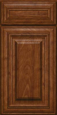 Square Raised Panel - Solid (AA1M) Maple in Cognac - Base