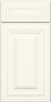 Square Raised Panel - Solid (AA1M) Maple in Dove White - Base